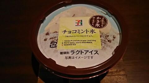 セブンイレブンチョコミント氷 (1)