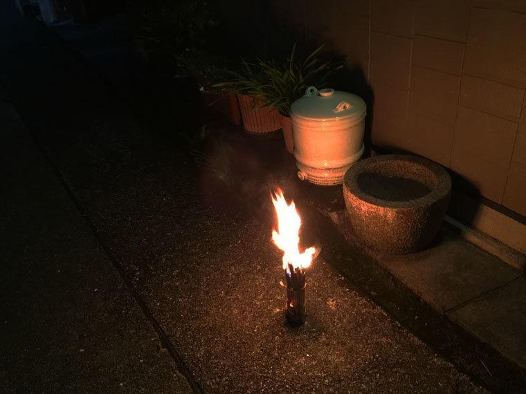 旧盆の送り火-1