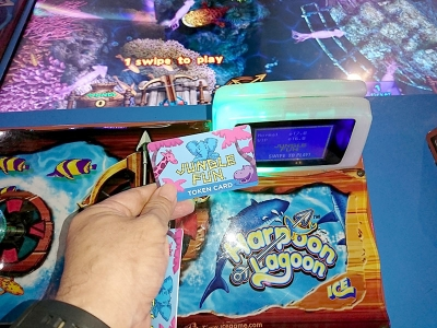 ゲームセンターのプリペイドカード