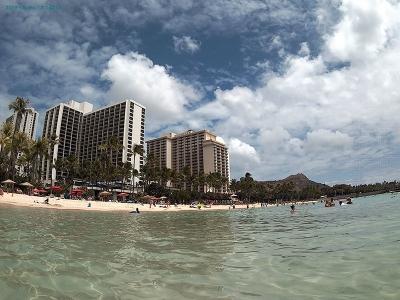 TEC.BEANのカメラで撮ったワイキキビーチ