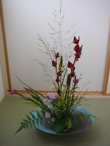 久しぶりの生け花
