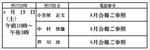 8月会報野外学習会2