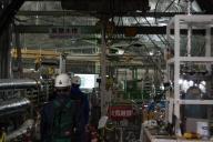 スーパーカミオカンデのタンクの上の設備室