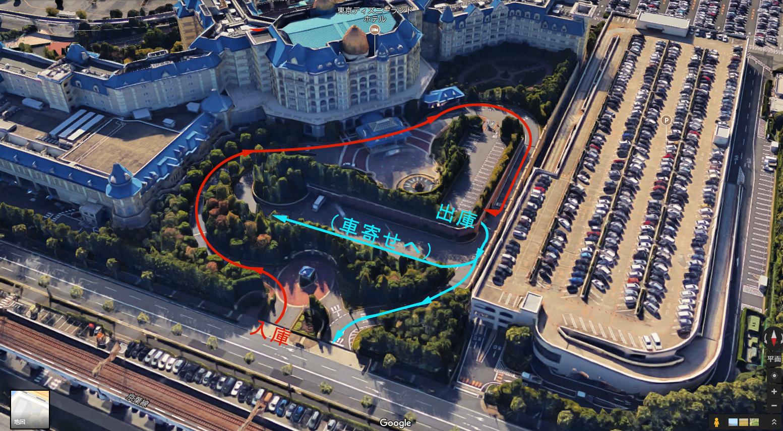 東京ディズニーランドホテル宿泊者専用駐車場入出庫経路 (修正版)