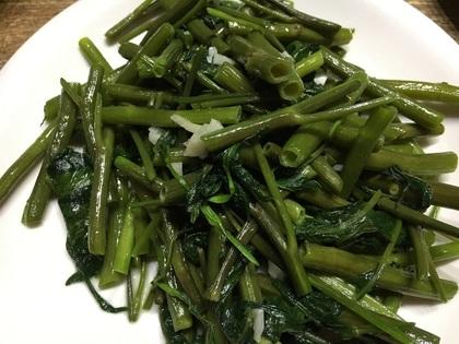 空心菜のニンニク塩炒め