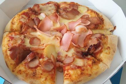 親子 ピザ作り