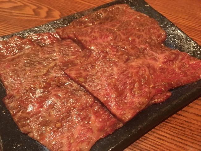 10-和牛特上薄切り醤油ダレランプ