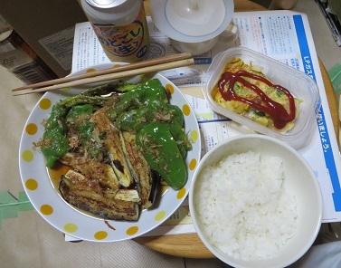 7月18日、夕食は野菜・1