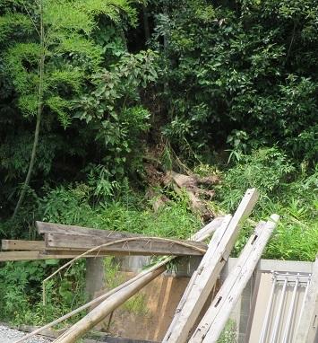 池村、台風の後・2