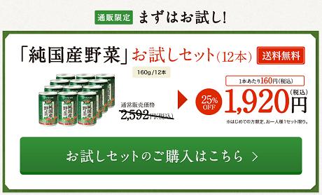 伊藤園 純国産野菜ジュース お試しセット2