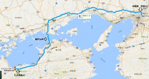 四国林道キャンプツー1708-day1-map1