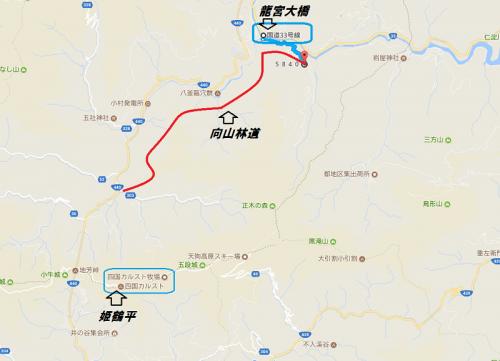 四国林道キャンプツー1708-day2-map2