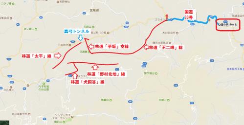 四国林道キャンプツー1708-day3-map2