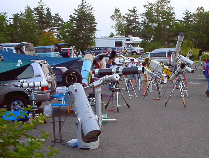 星まつり会場にて 望遠鏡02