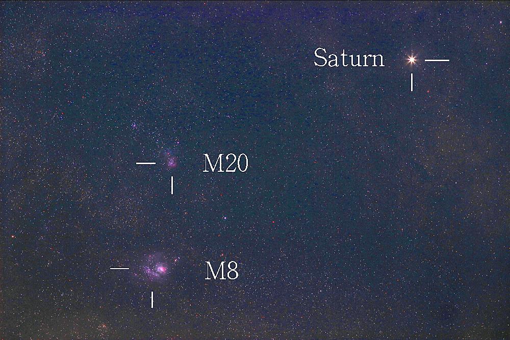 メシエ天体と土星 2017