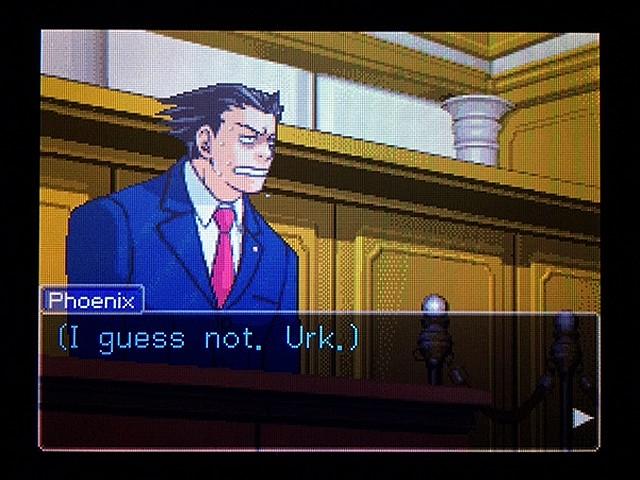 逆転裁判2 北米版 弁護士以下の男8