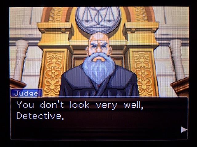 逆転裁判2 北米版 ディテクティブ・ガムシュー入廷4