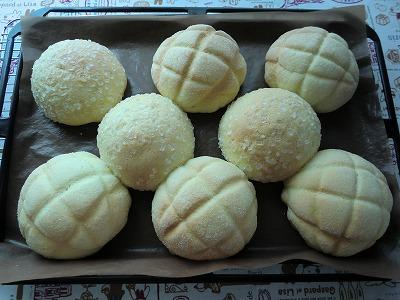 くっつくメロンパン