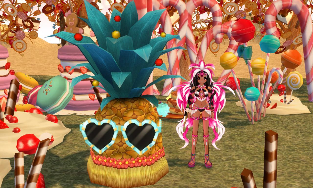 トロピカルパーティパイナップルとカーニバル