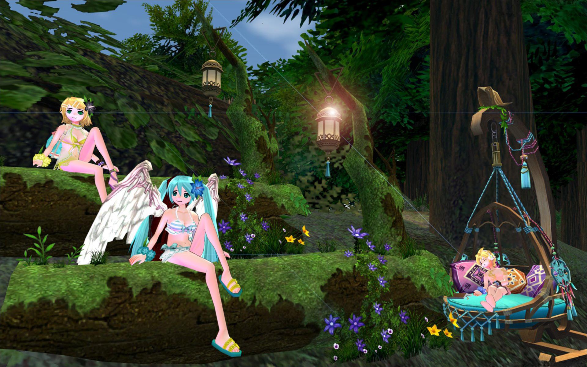 カルーの森でミク、リン、レン1