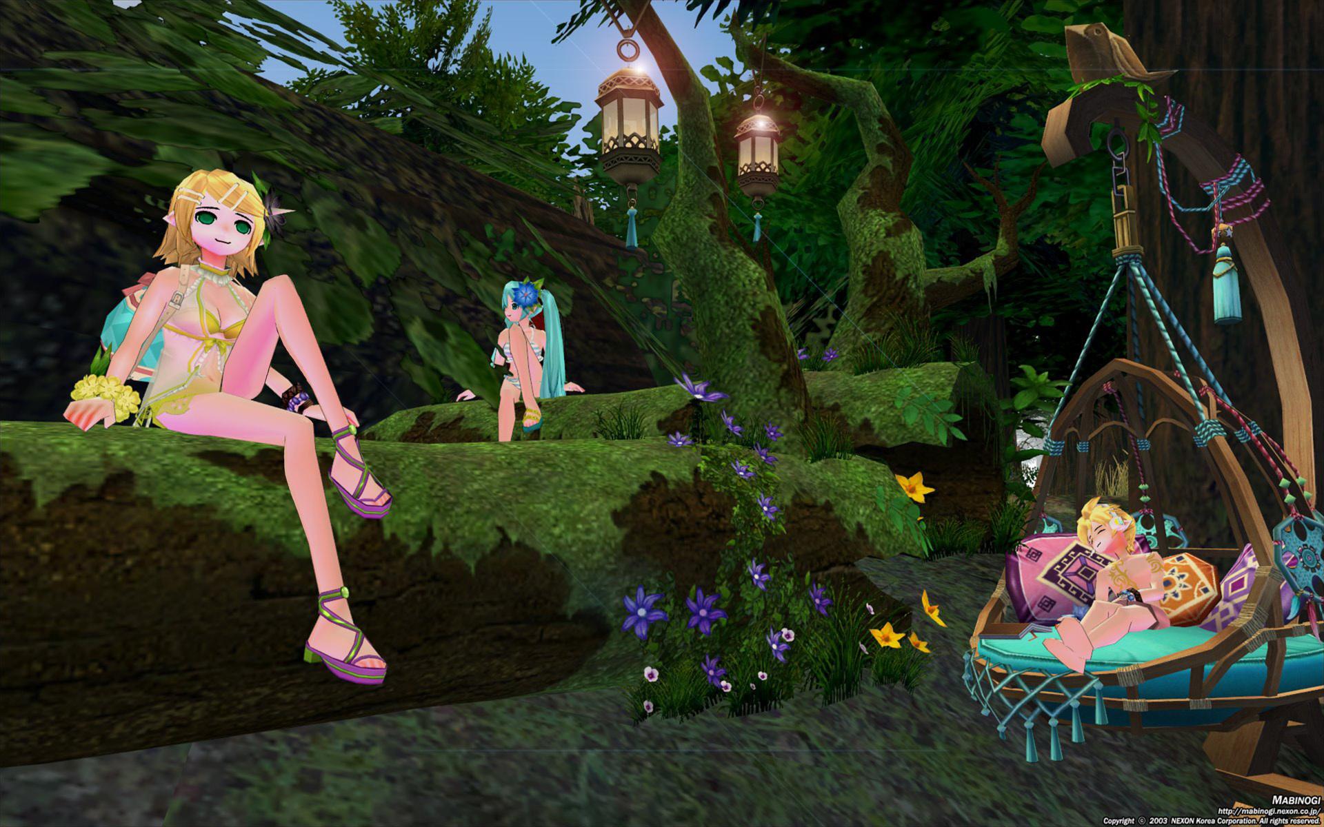 カルーの森でミク、リン、レン4