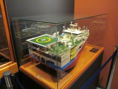 調査船模型