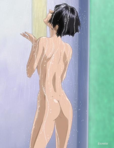 ガンダムSEED HDリマスター版 ナタル・バジルールの全裸ヌードシャワー入浴シーン31