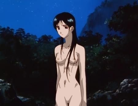 からくりの君 文渡蘭菊の全裸ヌード水浴び入浴シーン乳首14