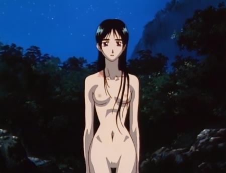 からくりの君 文渡蘭菊の全裸ヌード水浴び入浴シーン乳首15