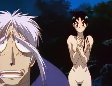 からくりの君 文渡蘭菊の全裸ヌード水浴び入浴シーン18