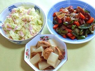 170718_4785 ポテトサラダ・酢豚・大根とゴボウ天の煮物VGA