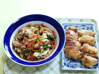 170725_4800 野菜炒め・鶏のチーズソテーVGA