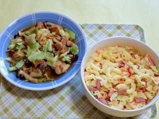 170818_4820 鶏とキャベツの味噌バター炒め・マカロニサラダVGA