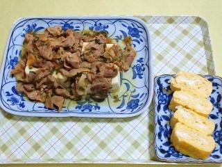 170912_4858 豆腐と豚コマのニンニク生姜炒め・だし巻き玉子VGA