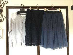 ロマンスタイプの秋のスカート