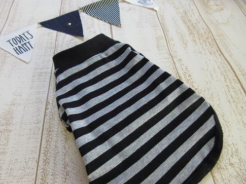 M*mania★ティアラちゃんの黒×グレーボーダーTシャツ