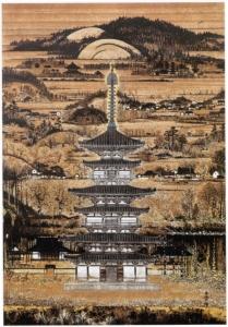 薬師寺東塔之図