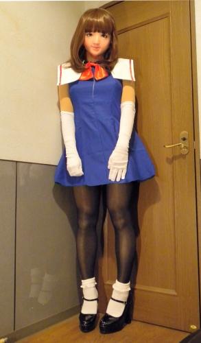 青ドレス1