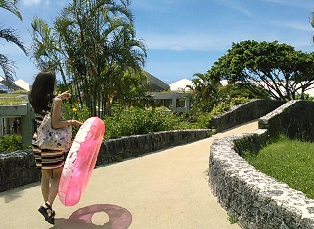 海洋博公園を抜けてエメラルドビーチへ