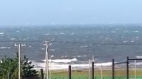 台風一過の海