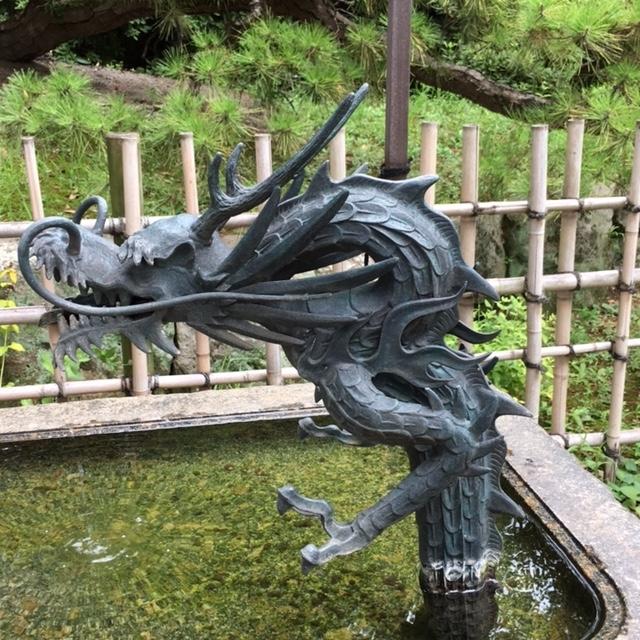 等々力不動尊の竜