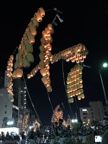 竿灯祭り2017a