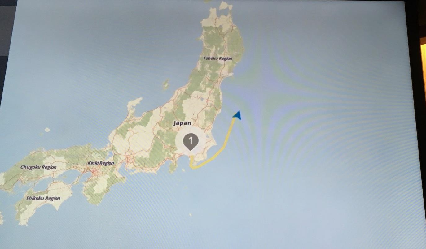 8月21日 東北沖を航海中