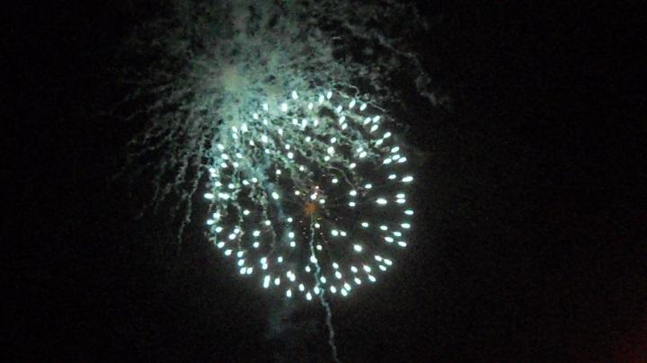 四街道の花火大会の初日、6