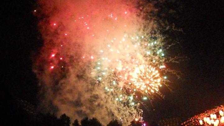 四街道の花火大会の初日、12