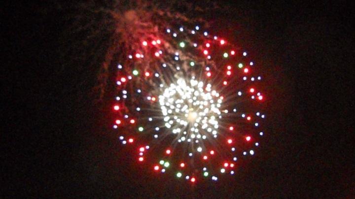 四街道の花火大会の初日、15