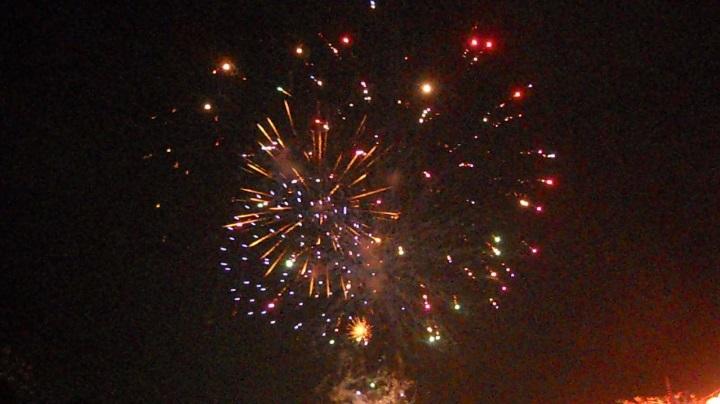 四街道の花火大会の初日、23