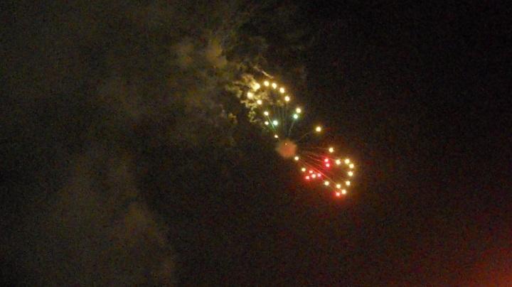 四街道の花火大会の初日、25