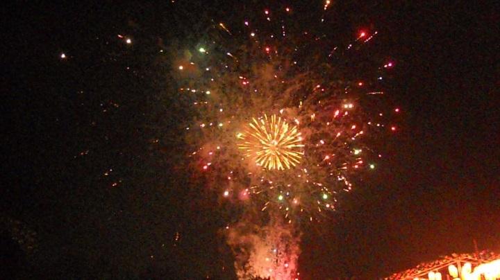 四街道の花火大会の初日、24