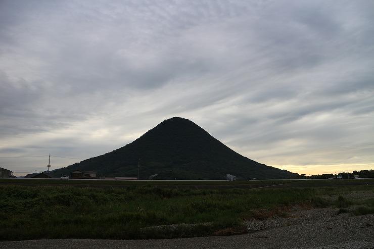太陽が出なかった讃岐富士 29.8.22